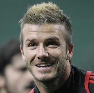 David Beckham is currently on loan at AC Milan