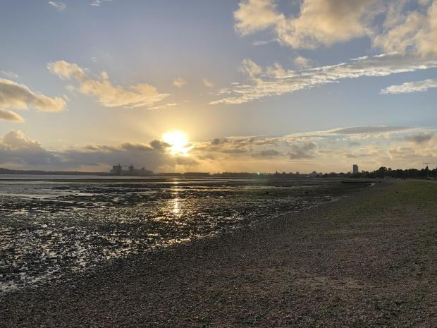 Daily Echo: Southampton Water viewed from the shore at Netley. Picture: PA