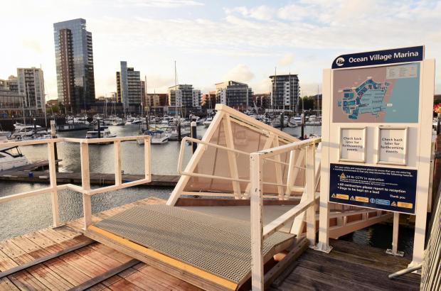 Daily Echo: Ocean Village Marina. Picture: Simon Czapp/Solent News & Photo Agency