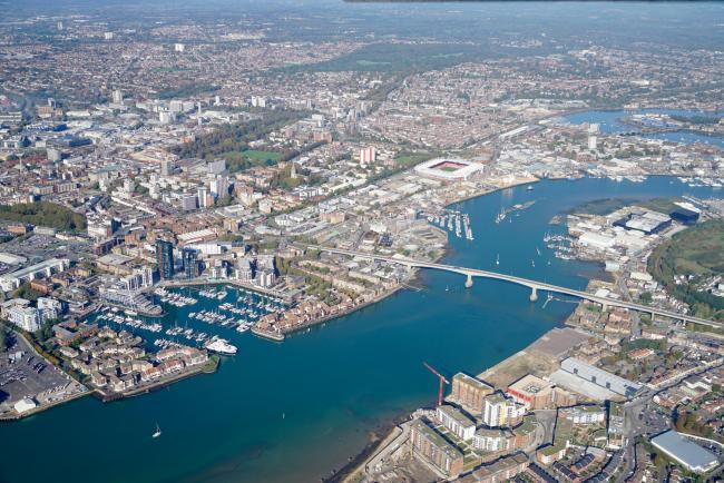 Aerial view of Southampton. Must credit Stephen Bath.