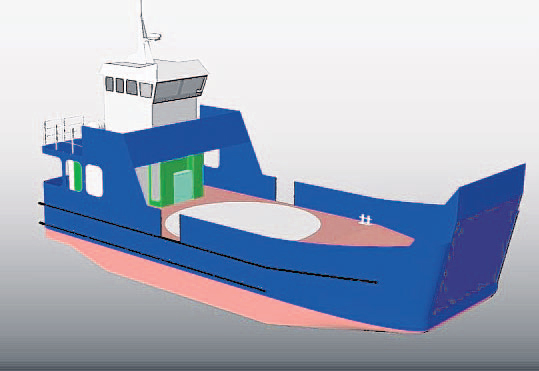 A design graphic of the Cromarty Ferry