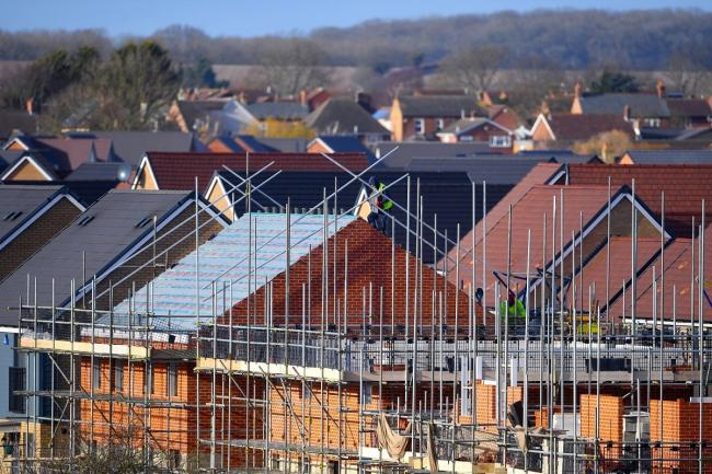 EMBARGOED TO 0001 THURSDAY FEBRUARY 06..File photo dated 01/02/18 of houses under construction. More new homes were registered in 2019 across the UK than in any other year since 2007, according to an industry body. PA Photo. Issue date: Thursday February