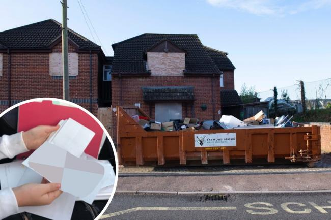 Personal photos, letters and emails discarded in skip outside care home.