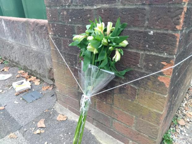 Daily Echo: A bouquet of flowers has been laid at the scene