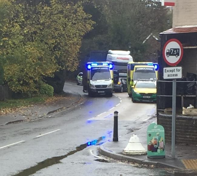 The crash this morning in Twyford