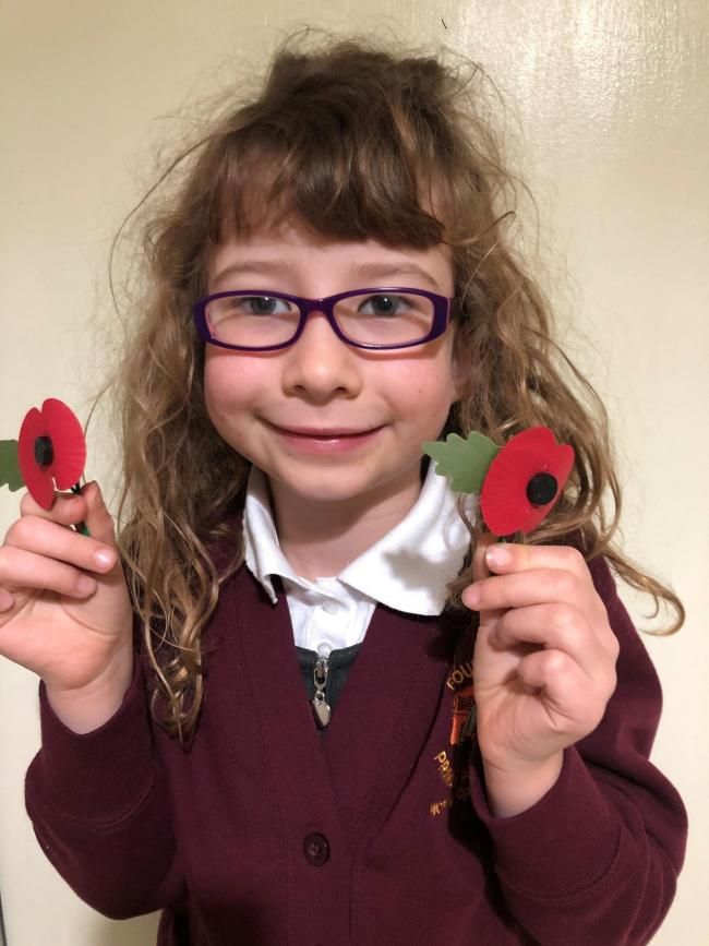 Poppy Menzies has raised more than £250 for the Poppy Appeal