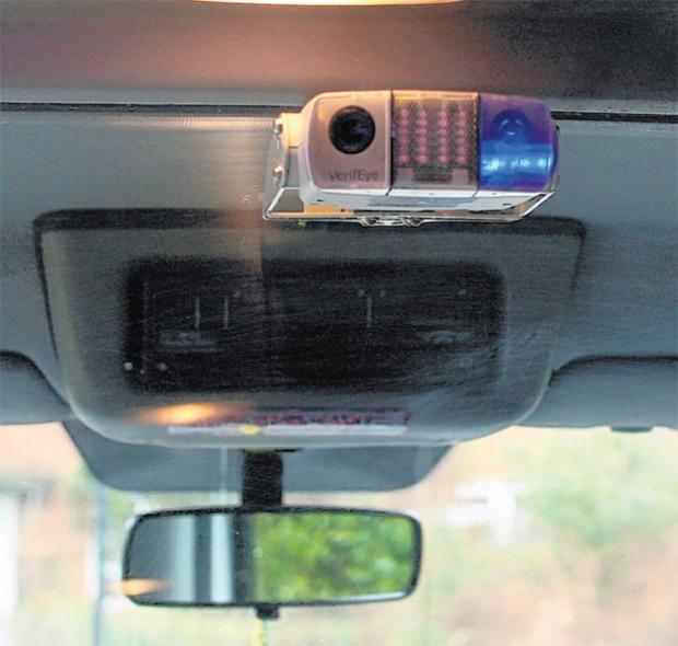 One of the cameras in a Southampton taxi