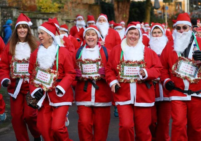 The Santa Run in 2019. Photo: Stuart Martin