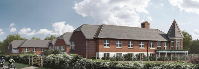A CGI of the proposed care home.