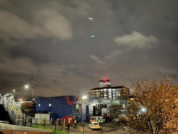 Daily Echo: A search helicopter was involved in police operations after a man pulled out a gun in a Southampton takeaway. Pictured: City Commerce Centre industrial park 21/11/20