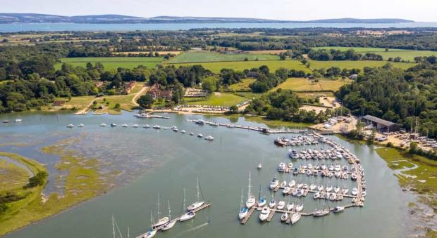 Daily Echo: An aerial view of Buckler's Hard. Picture: Beaulieu Enterprises.