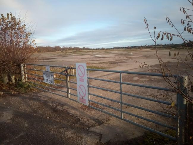 The land where the asylum seeker site is proposed on the edge of Barton Stacey