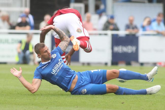 Andrew Boyce's goal was not enough to send Eastleigh through (Picture: Stuart Martin)