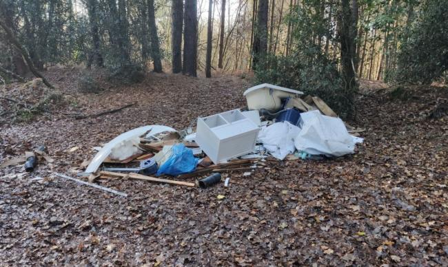 The rubbish was dumped at Roman Road, Chilworth.