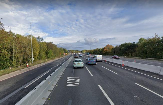 Part of motorway blocked due to ongoing police incident