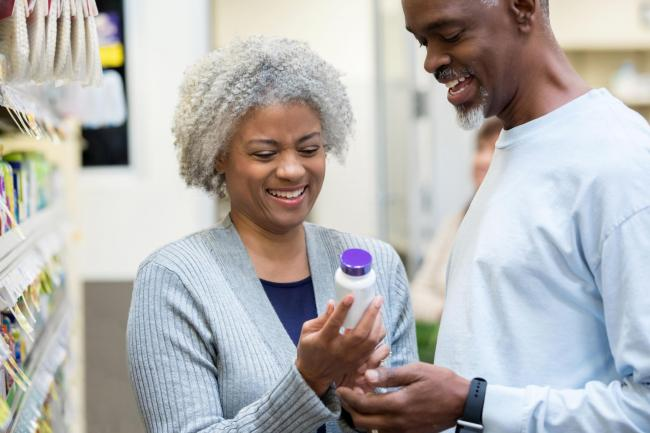 A generic stock photo of people shopping for vitamin supplements. See PA Feature WELLBEING Vitamin D. Picture credit should read: iStock/PA. WARNING: This picture must only be used to accompany PA Feature WELLBEING Vitamin D..