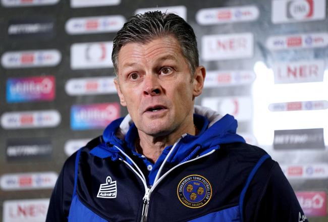 Shrewsbury Town manager Steve Cotterill (Pic: PA)