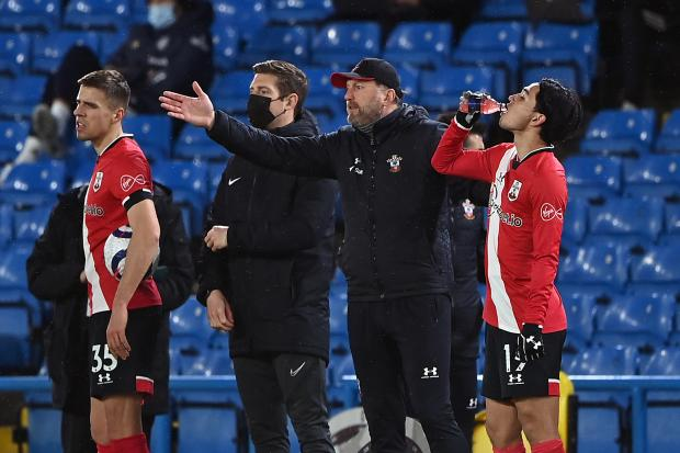 Southampton manager Ralph Hasenhuttl on the touchline during the Premier League match at Elland Road, Leeds. Picture date: Tuesday February 23, 2021. PA Photo. See PA story SOCCER Leeds. Photo credit should read: Laurence Griffiths/PA Wire.