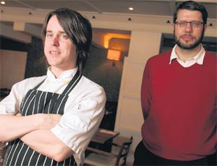Head chef Jim Hayward with manager Antony Robertson