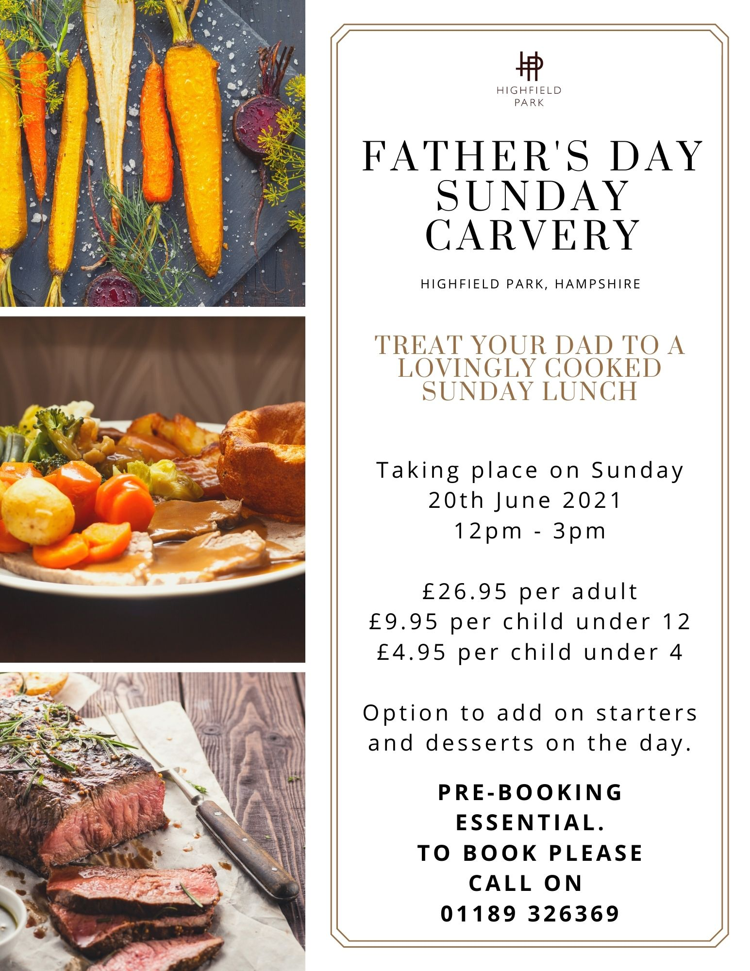 Father's Day Sunday Carvery