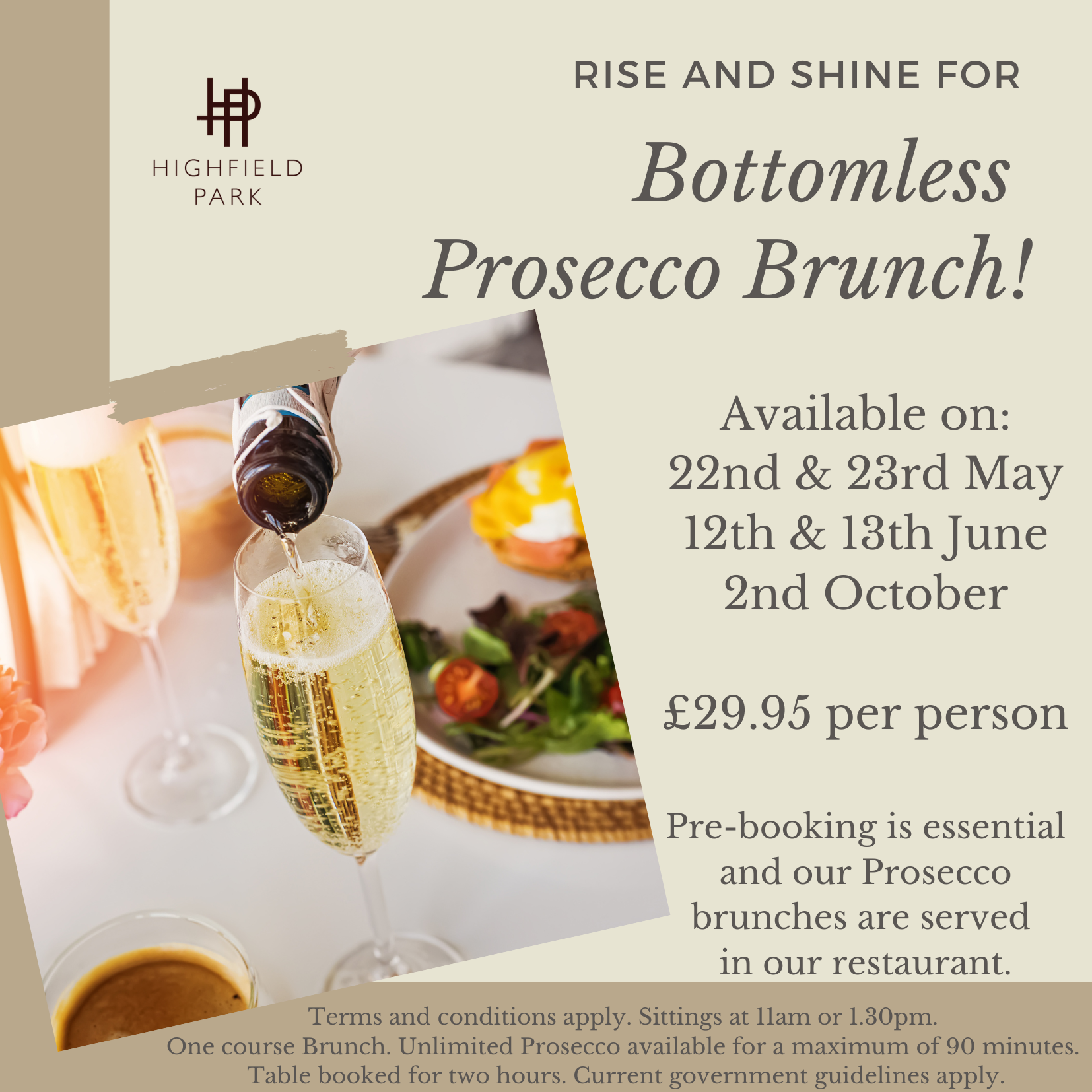 Bottomless Prosecco Brunch
