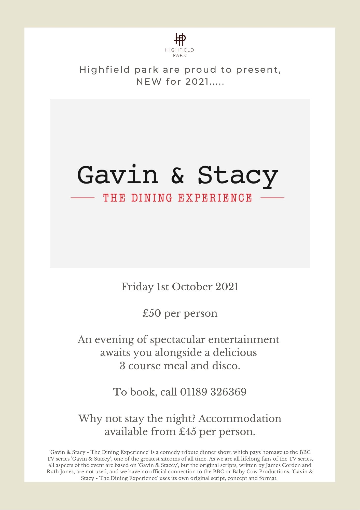 'Gavin & Stacy - The Dining Experience'