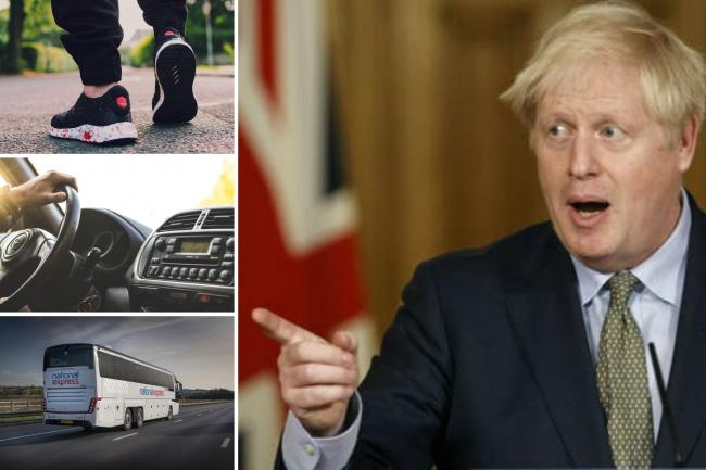 This is where you can travel from Monday when Boris Johnson eases lockdown. (PA/Canva/National Express)