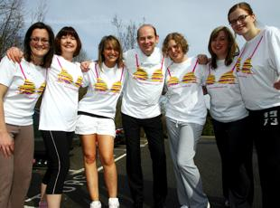 Daily Echo prepares for Celebrity SunWalk. Echo picture by Matt Watson. Order no: 10123013
