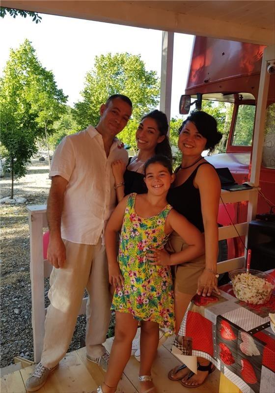 Roberto Marino e famiglia