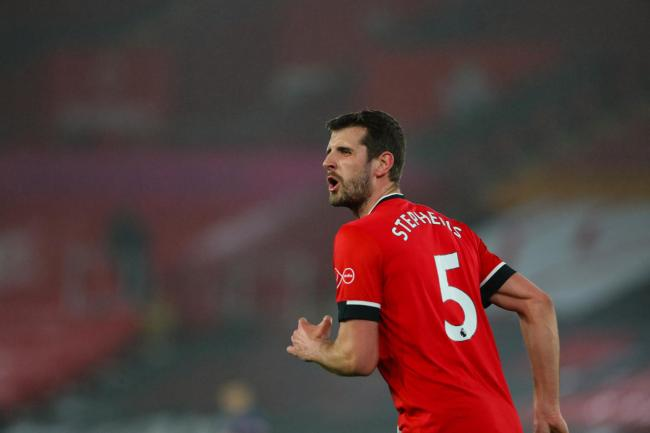 Southampton's Jack Stephens during the Premier League match between Southampton and Arsenal.  Photo by Stuart Martin..
