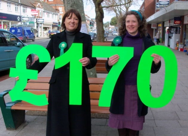 New Forest Green Party candidates Beverley Golden (l) and Janet Richards (r)
