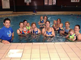 Daily Echo: Budge Pountney who runs a Waterbabies class
