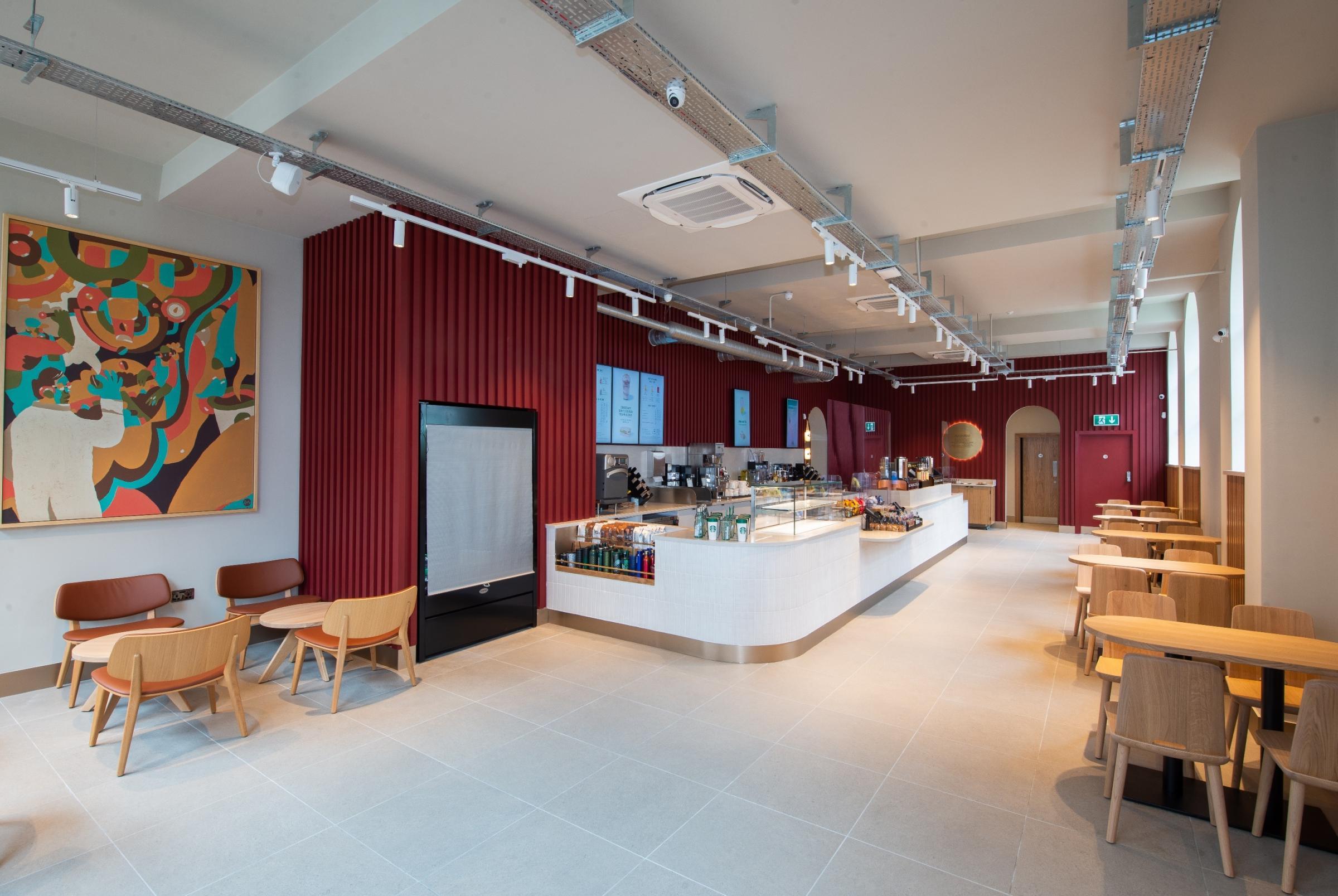 The inside of Starbucks on Winchester High Street, opened June 9 2021