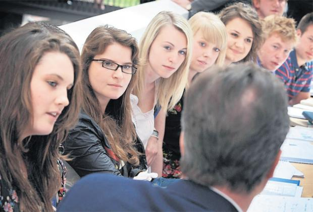 David Cameron meets Southampton University students