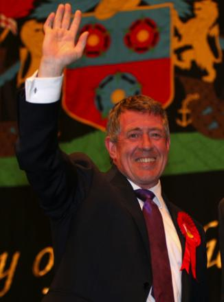 John Denham happy about keeping his seat.