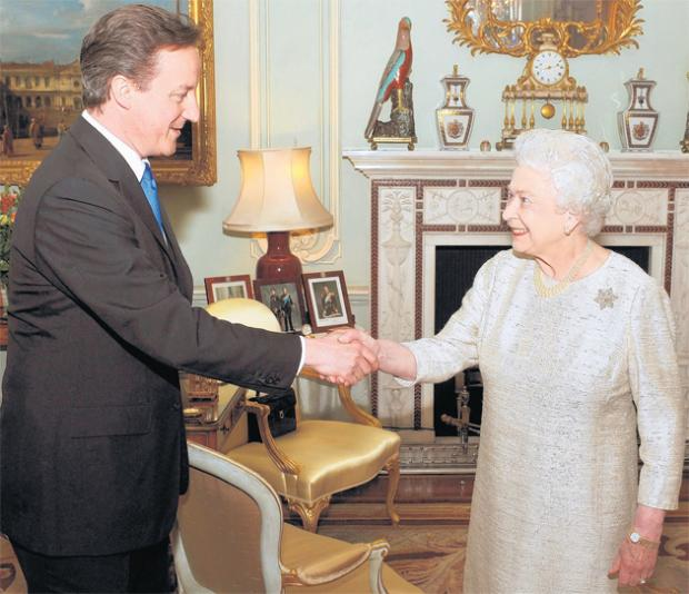 David Cameron meets the Queen