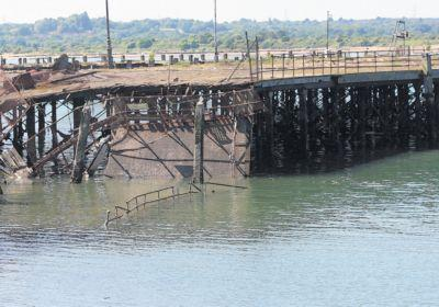 A 30m section of the pier collapsed shortly before 10am yesterday.