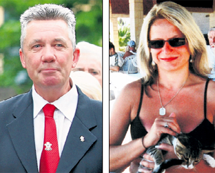 Ricky Poolton, left, the husband of Paula, right, pictured after the guilty verdict at Winchester Crown Court last week.
