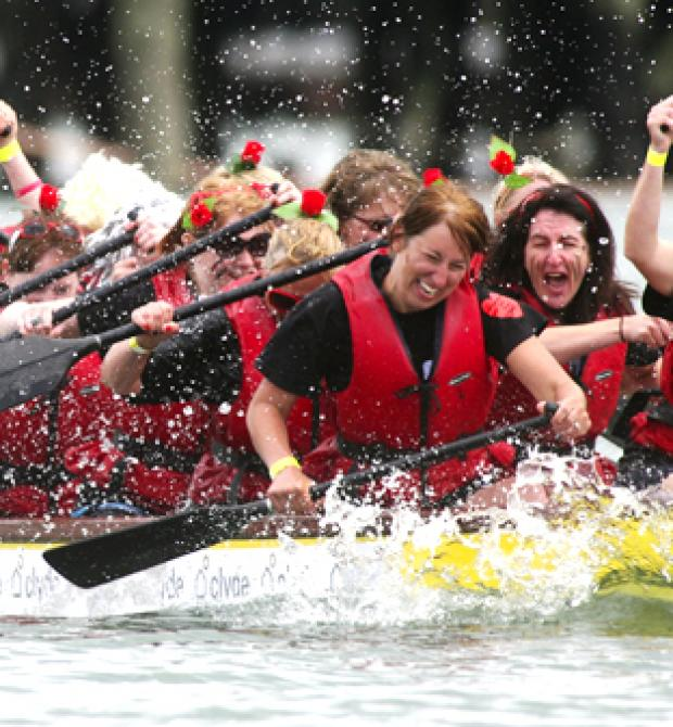 Daily Echo: Wessex Heartbeat's Dragon Boat Challenge 2010