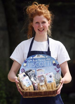 Steph Lowe of New Forest Biscotti