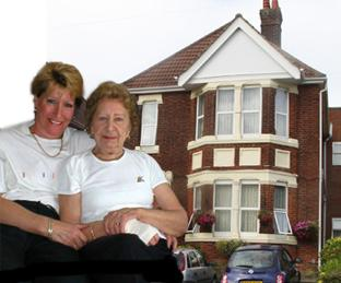 QUESTIONS: Sue Rennie with mum Florence Rayner before her time at The Briars