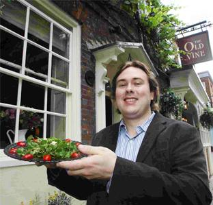 Sally Churchward meets co-owner of Winchester's Old Vine Ashton Gray