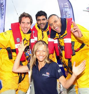 Pictured right at the RNLI dress rehearsal are, from left, Daniel Shonfeld, Sanjeer Sanotra and Kirk Waughaman with Laura Hodson from the RNLI.  Echo picture by Joanna Mann. Order no: 10911795