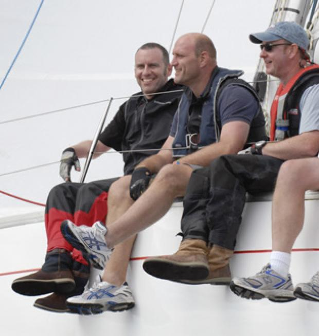 Lawrence Dallaglio on the water