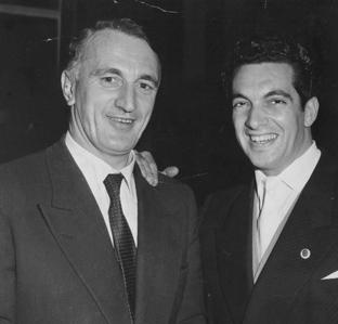 Paul Cave with Frankie Vaughan