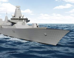 A computer generated image of a Type 26 frigate