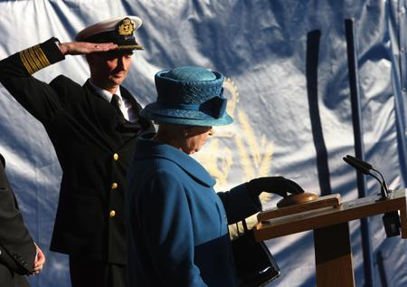 A magic moment as Queen Elizabeth is named