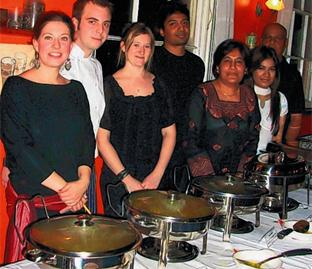 Kate Larden of Forte Tea Rooms and Tariq Salih, Haleema Salih, Ameera Salih and Shan Salih of Sri Lankan Cuisine.