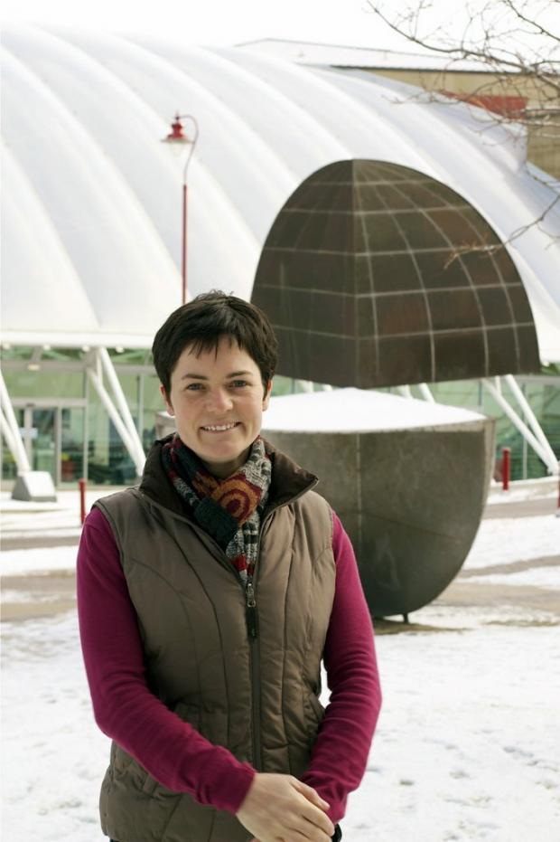 Dame Ellen MacArthur at Bradford University