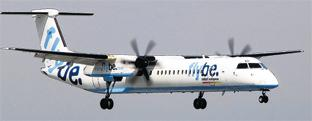Daily Echo: A Flybe dash 8.